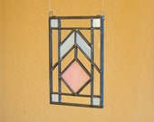 Small Wright Inspired Stained Glass Panel