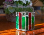 Red and Green Tea Light Candle Holder