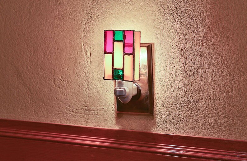 Prarie Style Nightlight  Inspired by Frank Lloyd Wright image 0