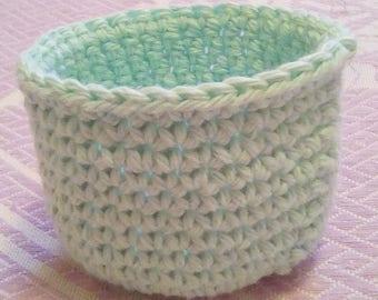 Teal Crochet Jewelry Bowl