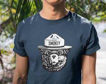 a8891bc5 Classic Smokey the Bear Graphic Tee - Black & White
