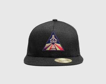 91aa699997dc7 Vintage 1980 s Inspired Atari Tribute Flexfit Flat Brim Hat