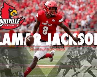 c492f4ece Lamar Jackson Louisville Cardinals 2016 Heisman Trophy Winner Poster