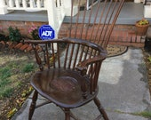 Rare 18th or early 19th century 1780 s-1810 Windsor comeback Philadelphia American armchair