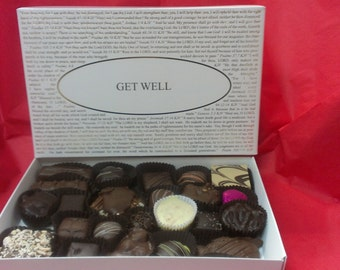 Chocolates with Get Well Box Lid or choose from over forty lids Gourmet Boxed Chocolates.