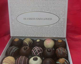 Truffle Chocolate Assortment (Large Truffles)with pick the title of your lid. Over forty lids to choose from! Gourmet Boxed Truffles!