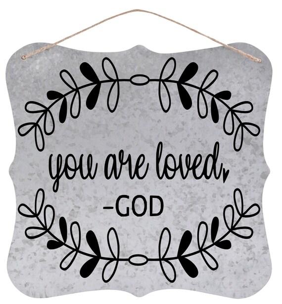 custom galvanized wall plaque x christian quotes