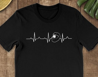 dadbf452 Heartbeat Welder Shirt - Welder Mug - Welder Gifts - Funny Welding Hoodie -  Welder TShirt Women - Unique Welder Gift - Welder Tee Up to 5XL!
