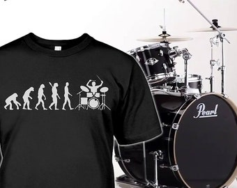 081b021c37 Drums Shirt - Drummer Gifts - Evolution of Drums Tshirt - Drumsticks Mug -  Drummer Hoodie - Drums Womens Tee - Up to 5XL Plus Sizes!