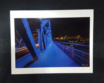 """High Level Bridge Blank Card 4.25""""x5.5"""" Edmonton, Alberta, Canada."""
