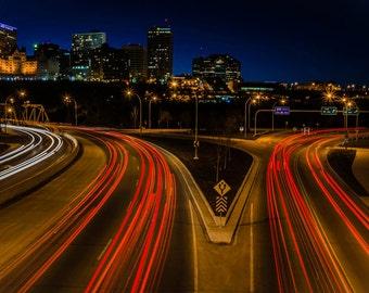 """Connors Road Magnet 2x3.5""""  Edmonton, Alberta, Canada."""