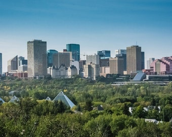 """Edmonton Skyline Magnet 2x3.5""""  Edmonton, Alberta, Canada."""