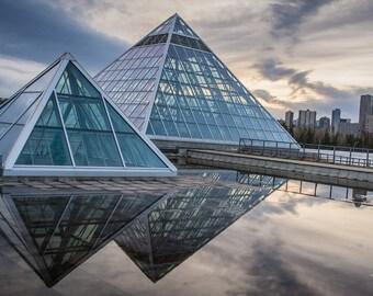 "Muttart Conservatory Magnet 2""x3.5""  Edmonton, Alberta, Canada."