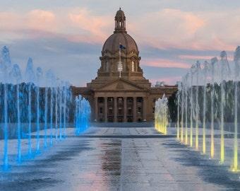 "Alberta Legislature Magnet 2""x3.5""  Edmonton, Alberta, Canada."