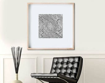 Original Abstract Painting, Geometric Art Abstract Art, Large Wall Art Black and White Original Art Line Art Australian Art Large Painting