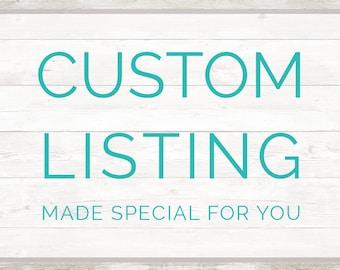 Custom Blanket Listings
