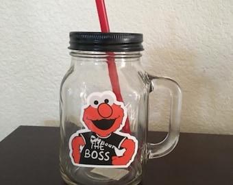 elmo mason glass mug