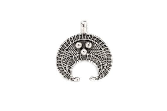 Lunnitsa pendant slavic and norse Lunula Lunnitsa necklace Moon talisman  lunar Amulet protection fertility pagan Viking jewelry