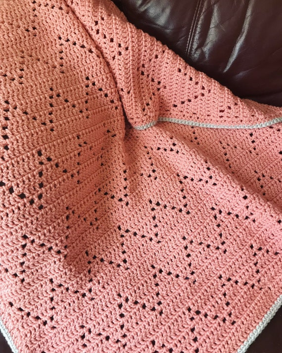 Easy Crochet Blanket Pattern, PDF, Zara's Blanket, easy filet Crochet  Pattern, beginner Crochet Pattern, zig zag crochet pattern,