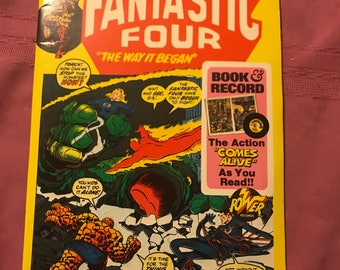 1974 fantastic four book and record set