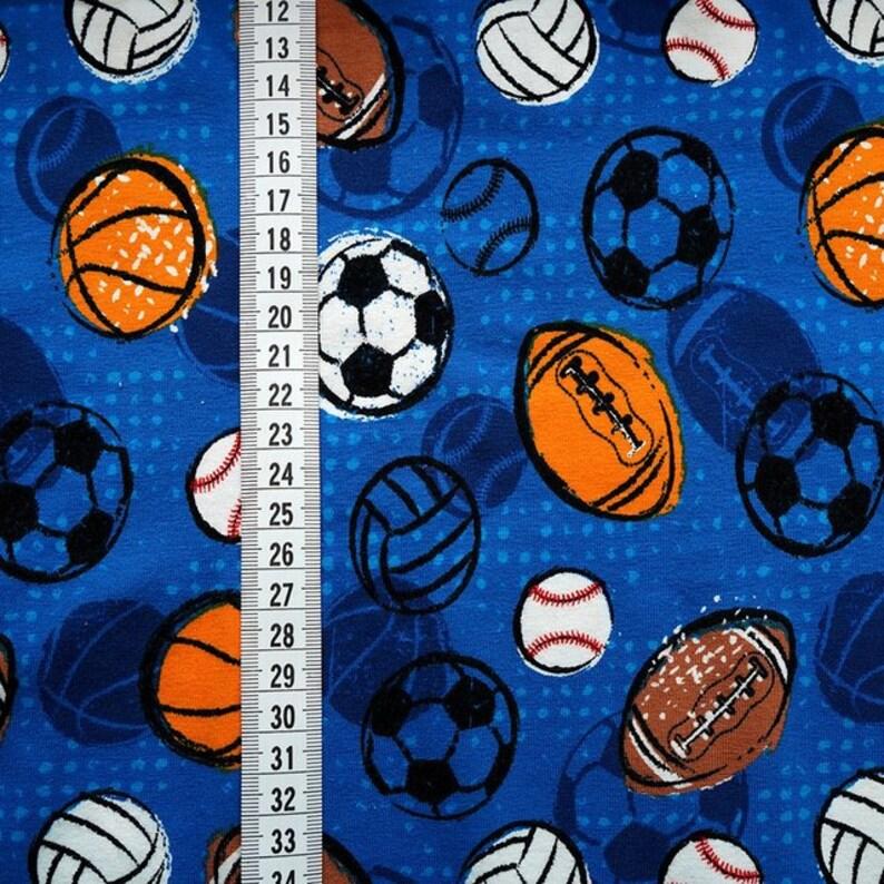 0,50m Biojersey Lets play Ball blau Kinderstoffe Jungsstoffe Jungen  Tiere Stoff Jersey Fuchs M\u00e4dchenstoffe Stoffe Jerseystoff Jersey Baby