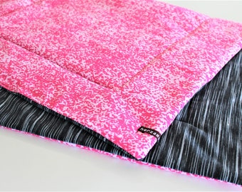 Lightweight baby blanket - reversible blanket - 90cm x 55cm hand-stitched quilted gift birth baby gift idea girl