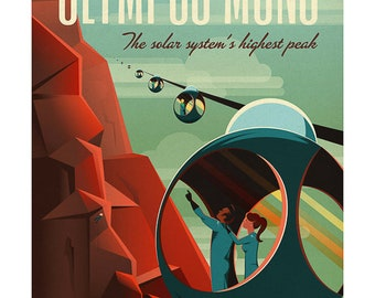 Affiche / poster Space-X Olympus Mons