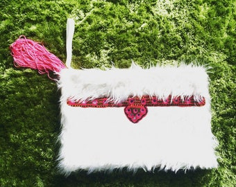 FAKE FUR CLUTCHBAG
