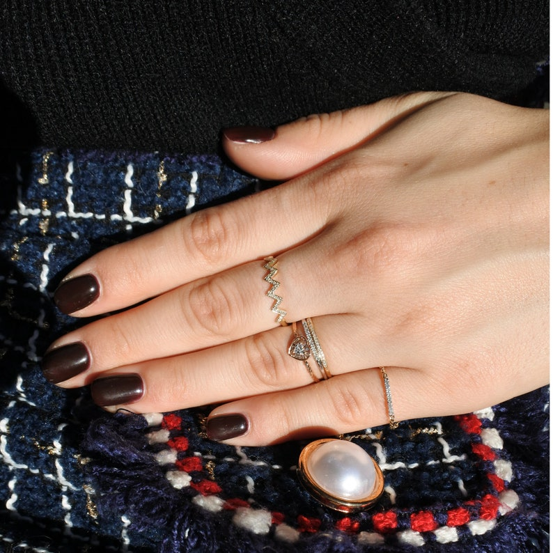 Eternity Diamonds Ring For Her 14K Gold