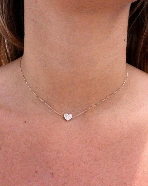collier ras de cou petit diamant
