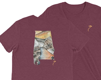 Alabama Triblend Soft Style T Shirt / Redfish Speckled Trout / Saltwater Fishing / Flounder / The Bonnie Fly / Inshore Fish / Gulf of Mexico