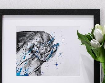Mahi Mahi Blue | Giclee Print