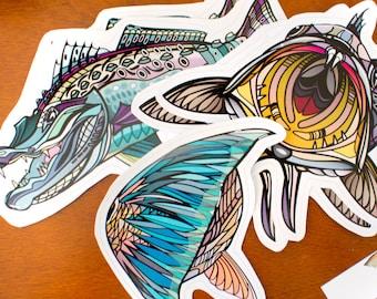Inshore Fish Decal Set