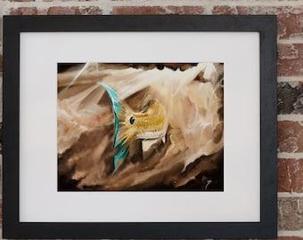 Redfish Swimming Through Mud Painting | Giclee Prints