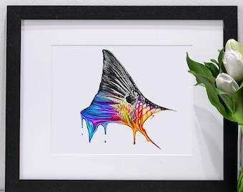 Redfish Tail Melting Portrait | Giclee Prints