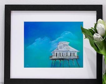 Middle Bay Lighthouse Pastel Portrait | Giclee Prints