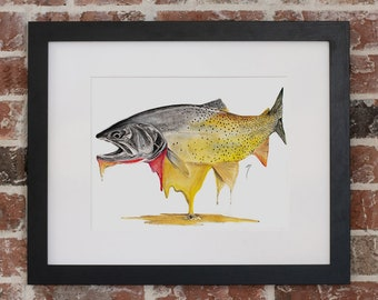 Melting Color Cutthroat Trout | Giclee Prints
