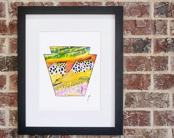 Keystone Pastel | Giclee Print