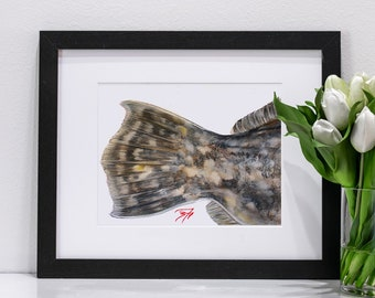 Flounder Tail Pastel | Giclee Prints