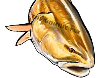 Redfish Fishing Decal