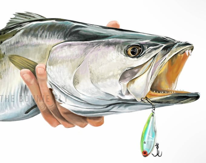 Featured listing image: Illustrated Taxidermy: Custom Commissioned Fishing Artwork // Fly Fishing // Fish Artwork // Wall Decor // Fishing Gifts // Mounted Catch