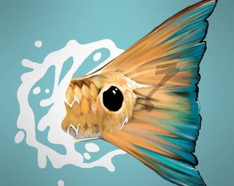 Redfish Tail Splash Decal