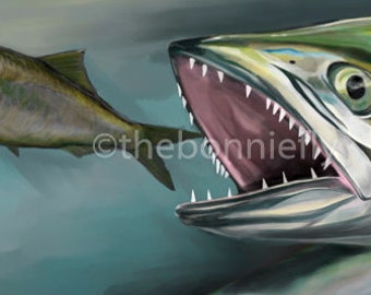 Spanish Mackerel Painting | Canvas and Giclee Prints