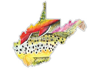 West Virginia State Fishing Decal