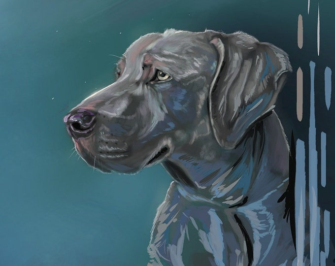 Featured listing image: Commissioned Pet Illustrations  | Pet Art Gifts | Wall Decor | Dog Portrait | Cat Drawing | Custom Artwork | Puppy Painting | Digital Art