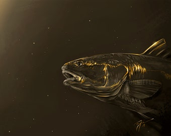 Limited Edition Gold Leaf Redfish