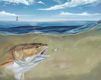 Outgoing Tide Painting Fort Morgan | Giclee Prints