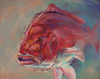 Red Snapper Painting | Canvas and Ciclee Prints