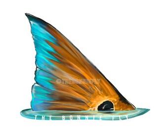 Original Redfish Tail Decal