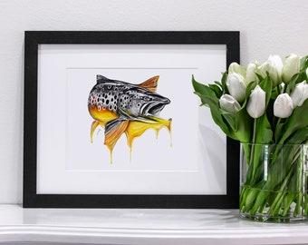 Melting Fish Set | Giclee Prints